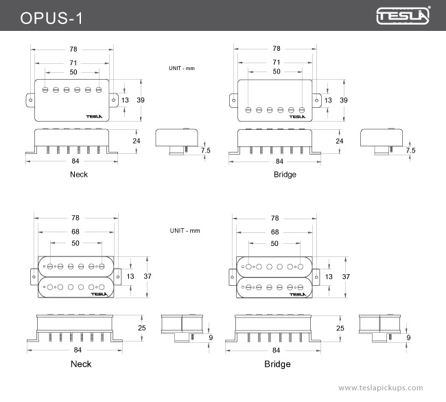 opus 1 \u003e humbucker tesla pickups nikola tesla coil diagram equipped with 4 wire leads that give the player endless tonal possibilities